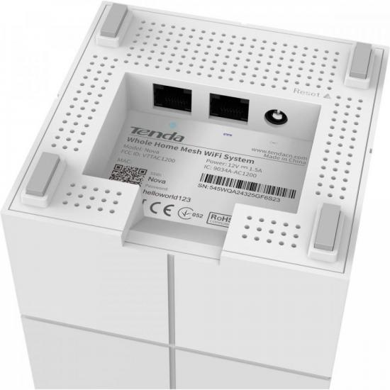 Roteador Wi-Fi Mesh com 3 Gigabit Dual Band MW6 Branco TENDA