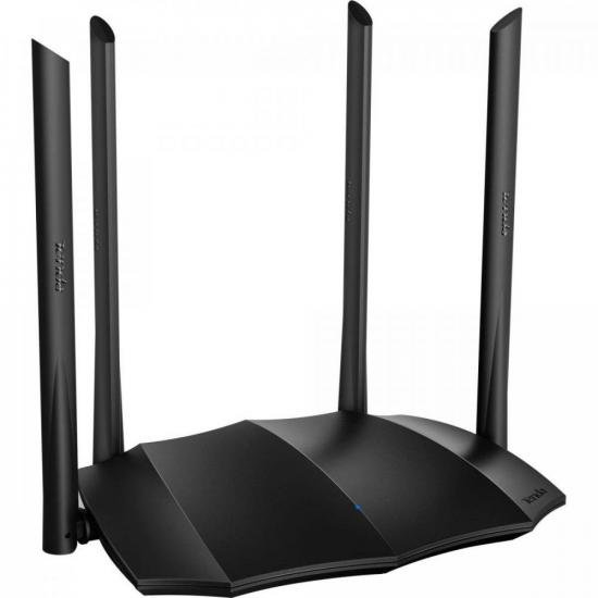 Roteador Wireless Gigabit 1200Mbps Dual Band AC8 Preto TENDA