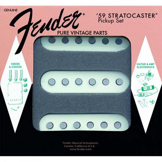 Set de Captadores Para Guitarra PURE VINTAGE '59 STRAT Branco FENDER