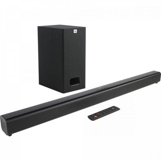 Soundbar com Subwoofer 2.1 Bluetooth 55W Cinema SB130 Preto JBL