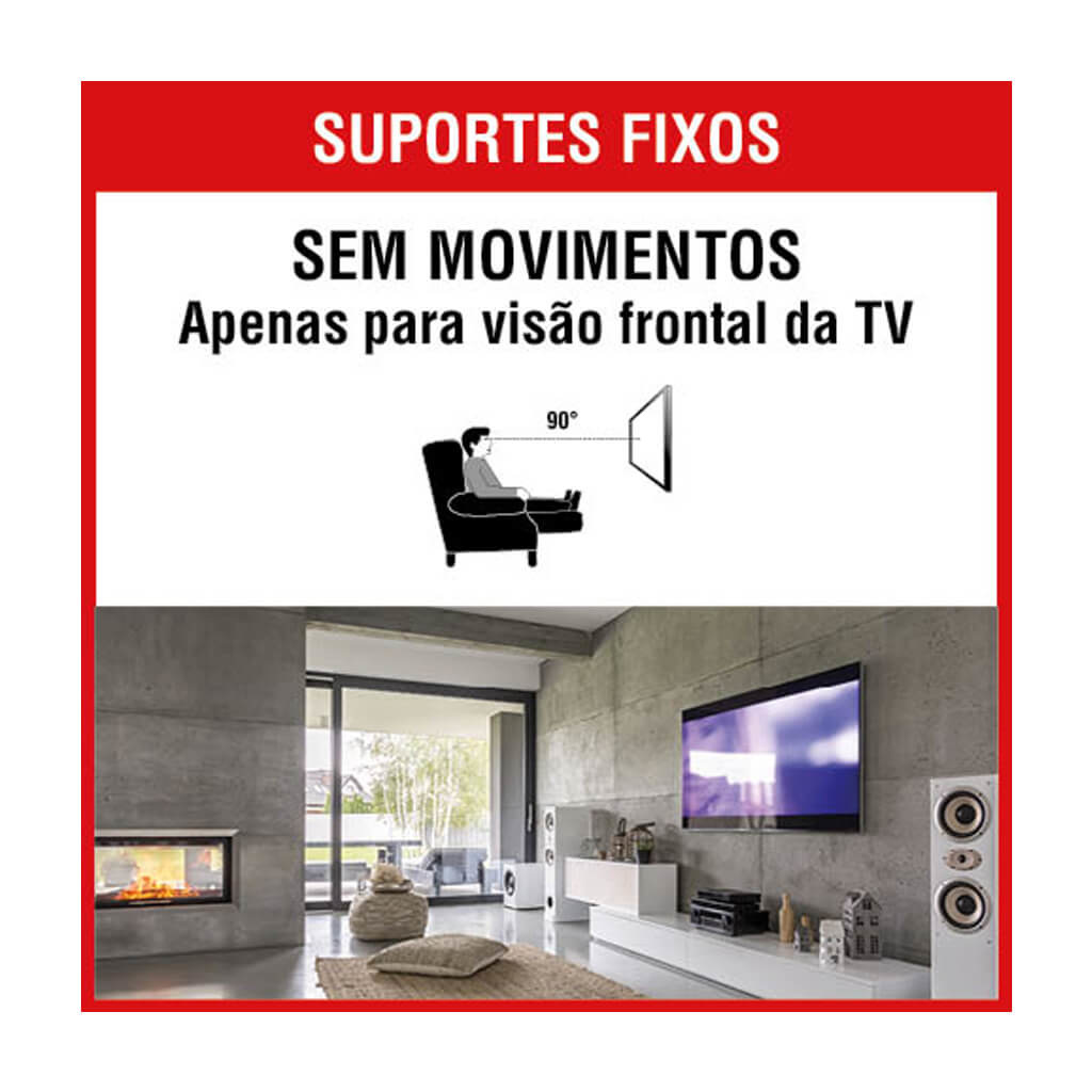 SUPORTE FIXO TV 37 A 75 BRASFORMA SBRP 604