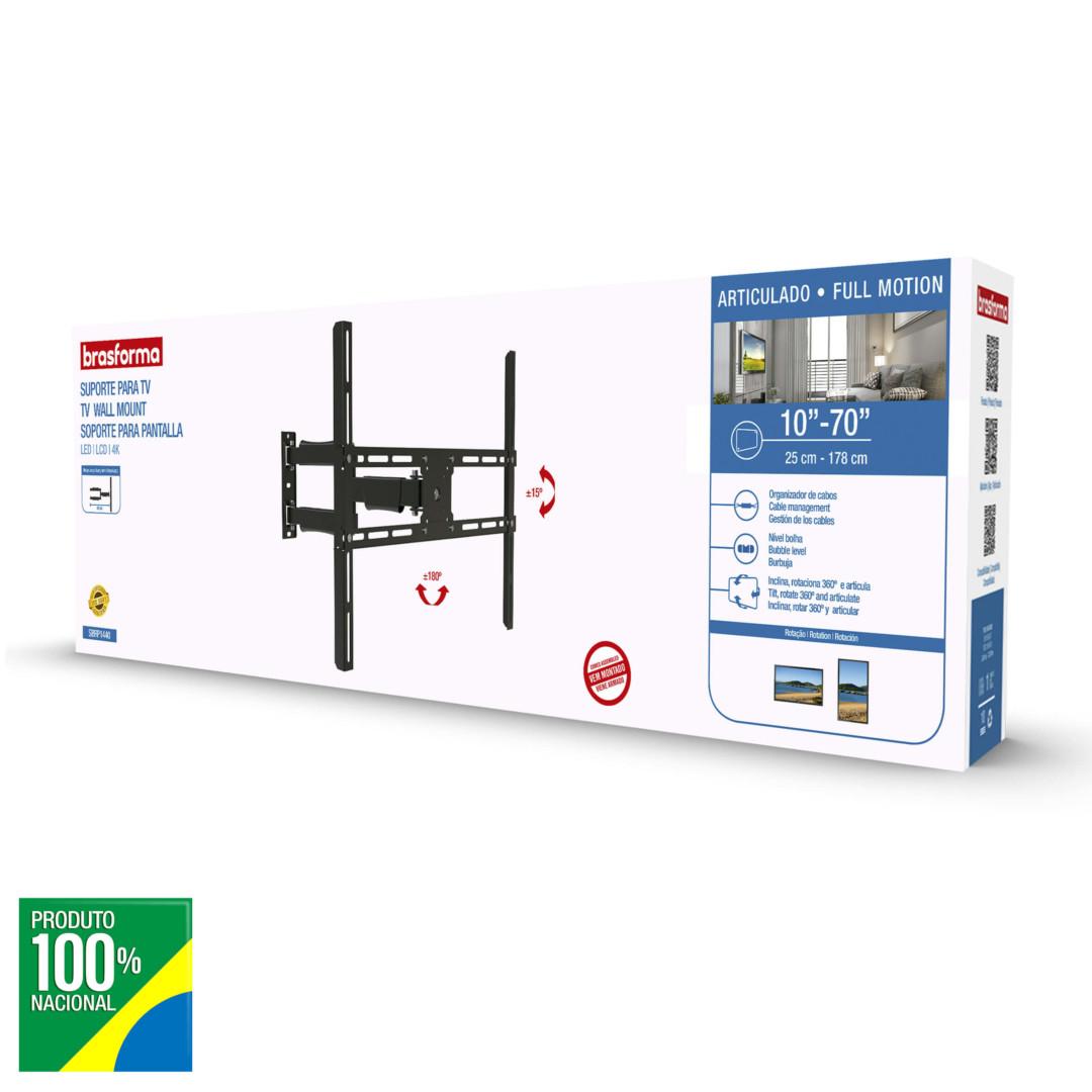 SUPORTE TV LED TRI-ARTICULADO BRASFORMA  10 - 70 SBRP1440