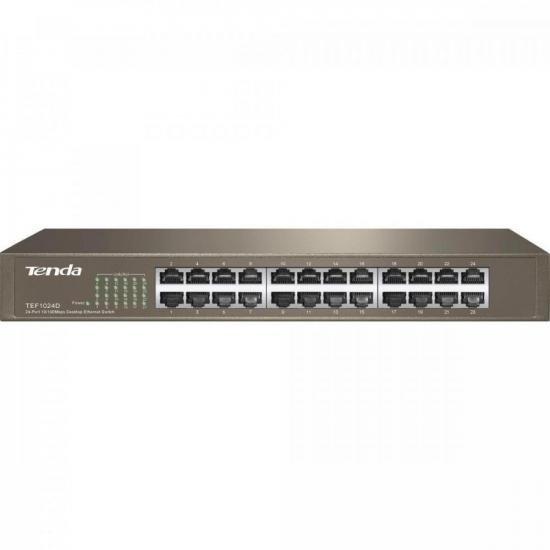 Switch 24 Portas 100MBPS TEF1024D TENDA