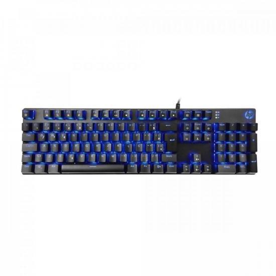 Teclado Gamer Mecânico USB LED GK400F Preto HP