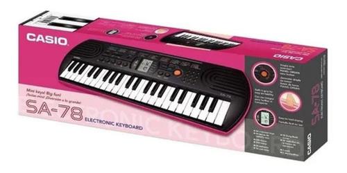 TECLADO MUSICAL CASIO INFANTIL DIGITAL ROSA MOD. SA-78AH2