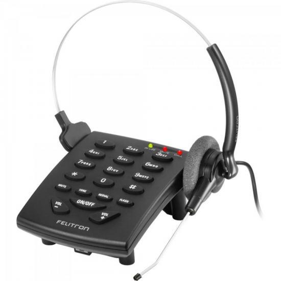 Telefone Headset STILE S8010C Black C FELITRON