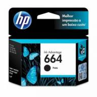 Cartucho de Tinta HP 664 Preto Original 2 ml [ 1115, 2136, 3636, 3836, 4536, 4676 ]