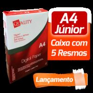 Papel A4 Quality Paper Junior - Caixa com 05 resmas de 500 folhas