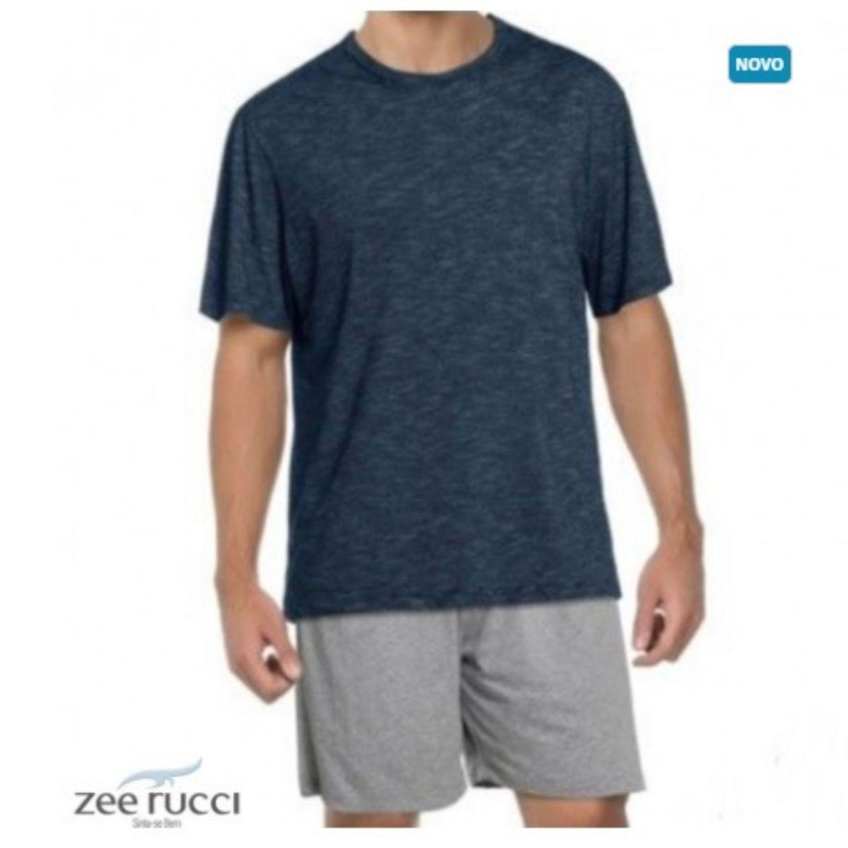 Pijama Masc Zee Rucci Curto Blue Stripes Algodão Marinho
