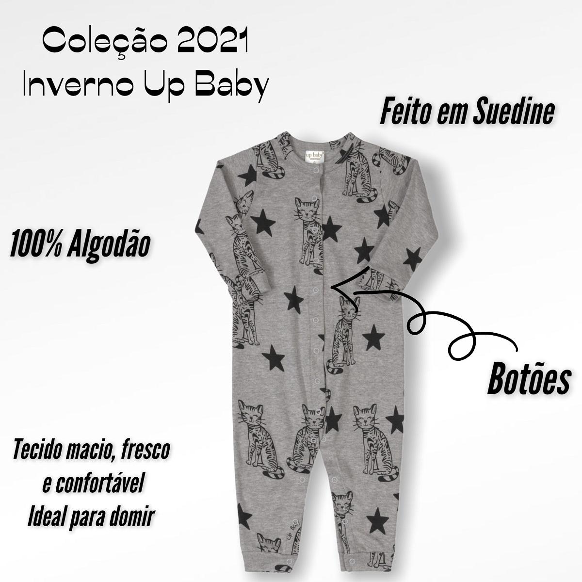MACACÃO UP BABY LONGO  UNISSEX MASCULINO MENINO FEMININO MENINA GATO