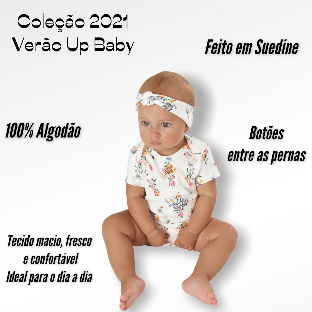 MACAQUINHO UP BABY CURTO FEMININO MENINA FLORAL