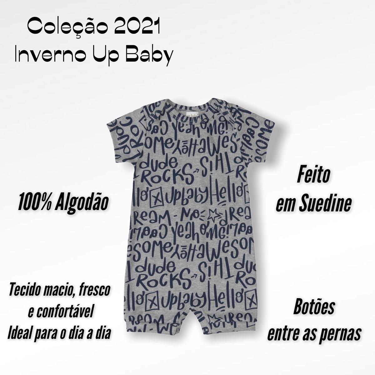 MACAQUINHO UP BABY CURTO  MASCULINO FEMININO MENINO MENINA UNISSEX PALAVRAS