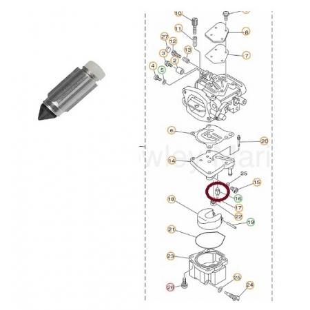 Agulha Admissao Yamaha 40 / 115 / 250 HP