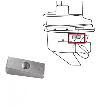 Anodo Mercury 90 a 275 HP ( PAR ) - Lateral