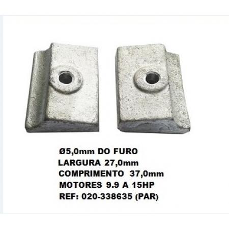 Anodo Sacrificio Johnson / Evinrude 9.9 a 15 HP ( PAR )