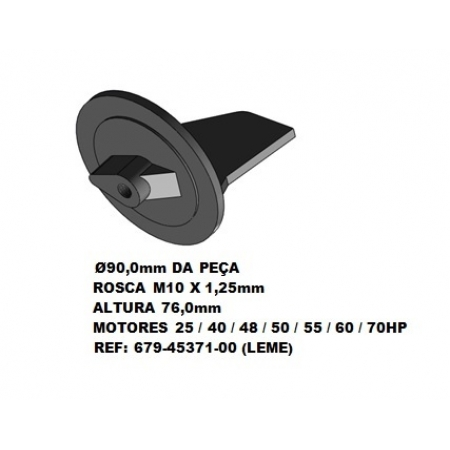 Anodo Yamaha 25 / 40 / 48 / 50 / 55 / 60 / 70 HP
