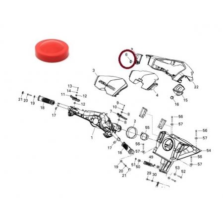 Botao Partida Sea Doo 4 TEC - Silicone Vermelho