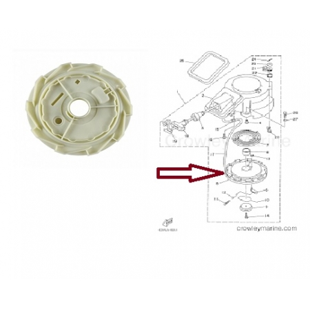 Carretel Partida Yamaha / Hidea 9.9 / 15 HP
