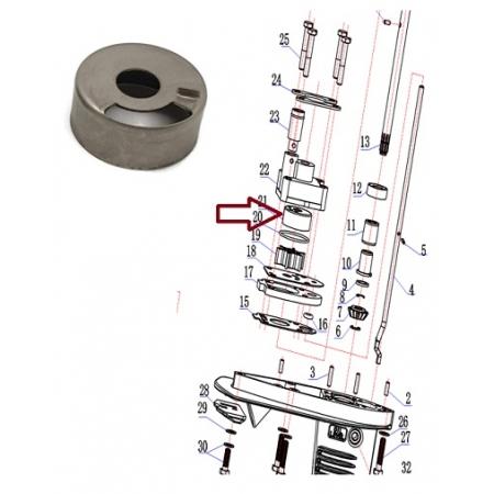 Copo Bomba Agua Hidea 3.5 / Mercury 3.3 HP / Yamaha 3 HP