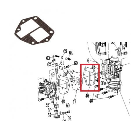 Junta Vedacao Externa Mercury / Hidea 9.8 HP