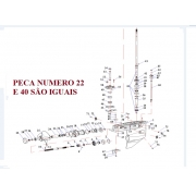 Retentor Eixo Helice / Eixo Cardan Yamaha 40 HP