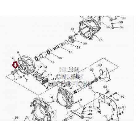 Retentor Turbina Jet Yamaha 4 TEC - WSM