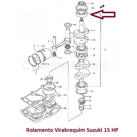 Rolamento Virabrequim Suzuki 15 HP