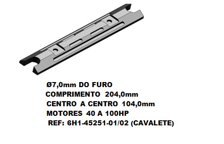 Anodo Sacrificio Yamaha 40 a 100 hp ( Cavalete )