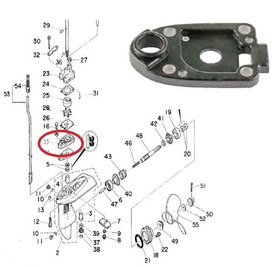 Base Bomba Agua Yamaha 4 HP / Maranello 5 / 6 HP