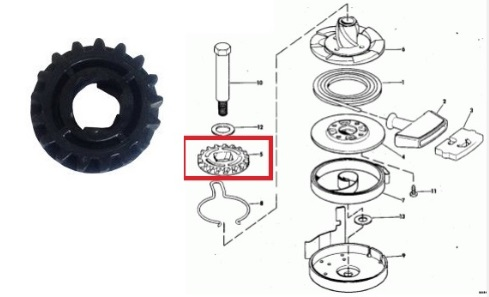 Bendix Partida Motor Johnson / Evinrude 15 HP