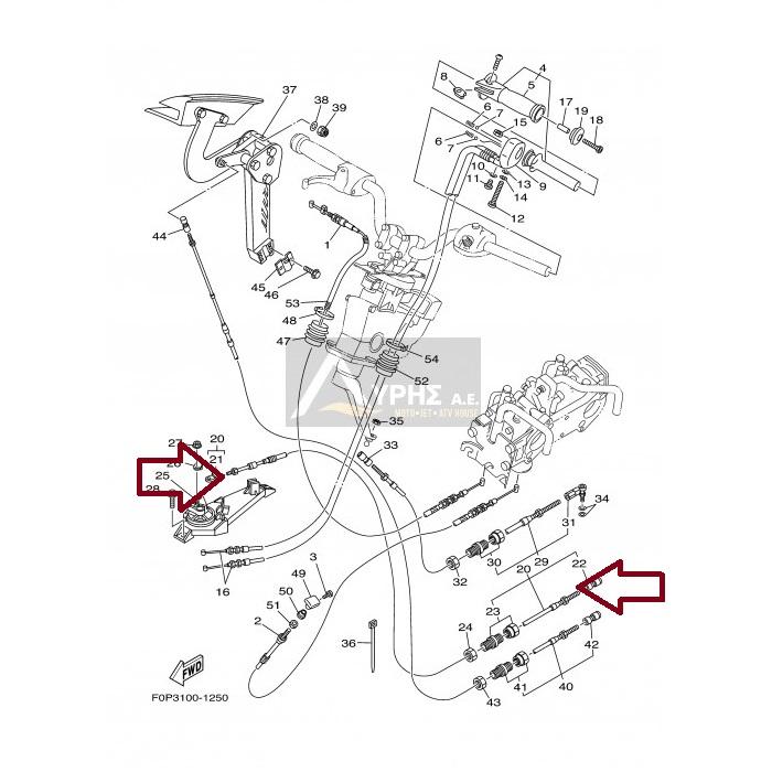 Cabo Trim Jet Yamaha Raider 700 / 760 / 1100 ( 3°)