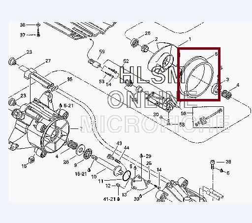Cinta Turbina Jet Sea 720 / 800 / 950 - Diametro Original 156mm