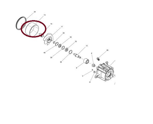 Cinta Turbina Jet Ski Sea Doo 4-TEC 160 MM Diametro Original