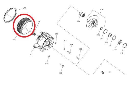 Cinta Turbina Jet Ski Sea Spark - 140mm Diametro Original