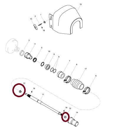 Contra Choque Eixo Transmissão Jet Sea 2 TEC (PAR)