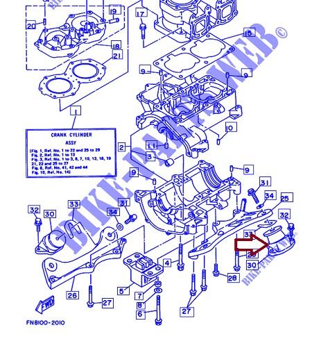 Coxim Motor Jet Yamaha 650 / 700 / 800 / 1200