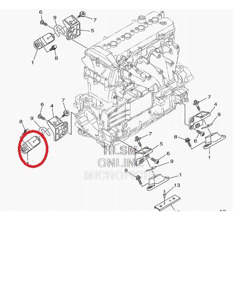 Coxim Motor Jet Yamaha 800 / 1100 / 1300 / 1800