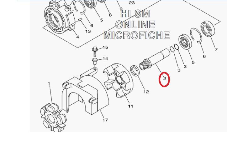 Eixo Acoplador Jet Yamaha 1800 - 142MM