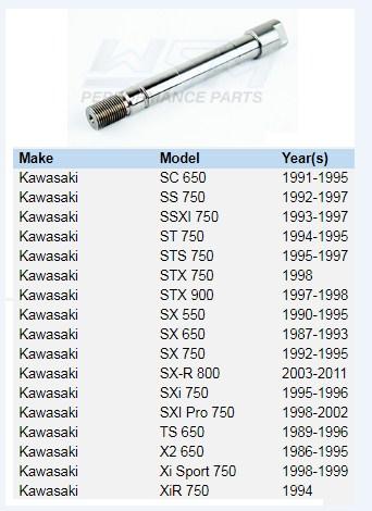 Eixo Turbina Jet Kawasaki 650 / 750
