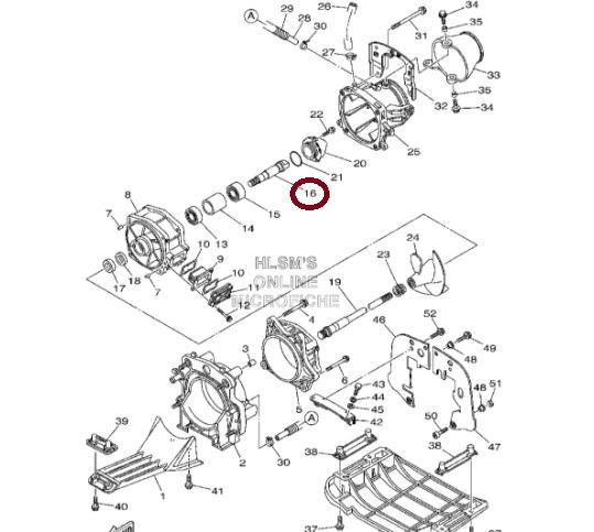 Eixo Turbina Jet Yamaha VX 700 / VX 1100