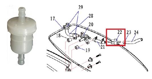 Filtro Gasolina Popa 3.3 / 3.5 / 4 / 5 / 6 HP