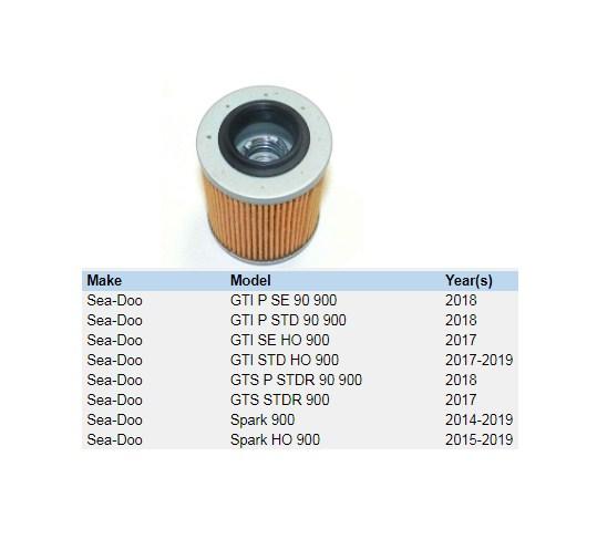 Filtro Oleo Jet Sea Doo GTI 90 /  Jet Sea Doo Spark - WSM