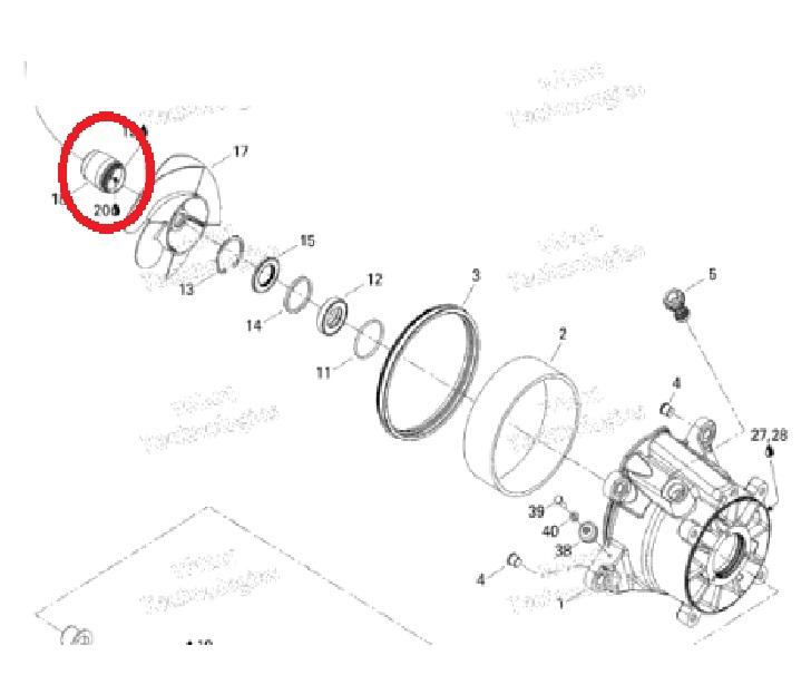 Guarnicao Helice Jet Sea GTX / RXP / RXT / Wake