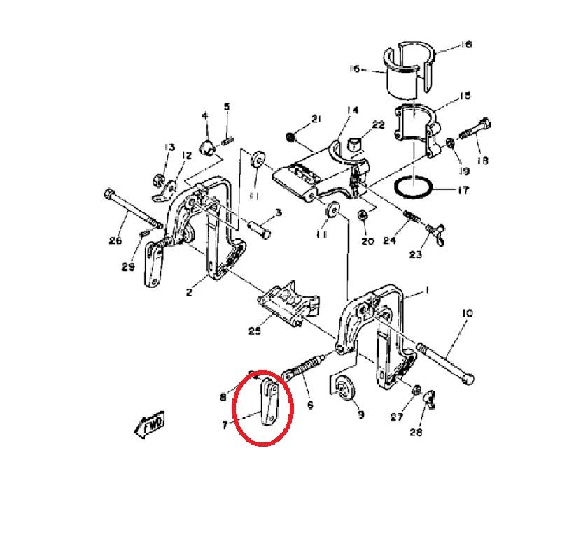 Jogo Alavanca Fixação Cavalete Yamaha 9.9 / 15 HP ( PAR )