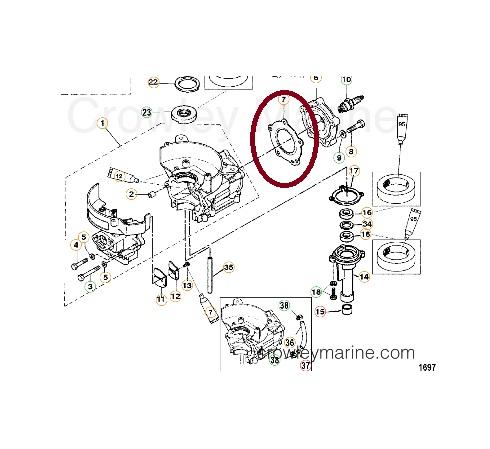 Junta Cabecote Mercury 5 HP / Hidea 5 HP