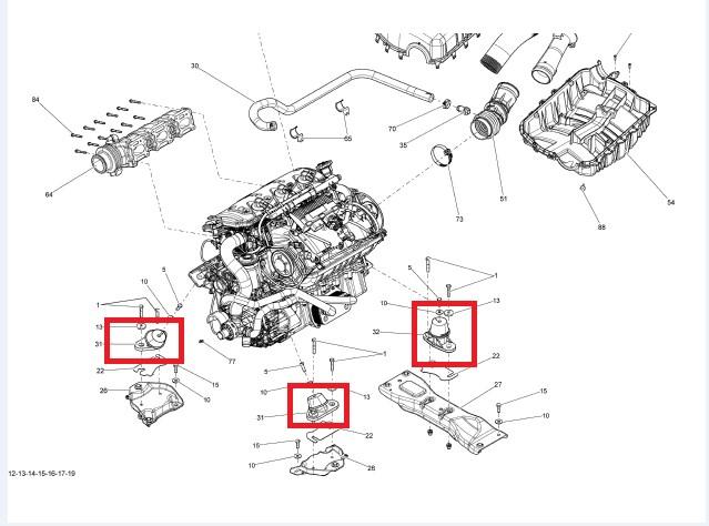 Kit Coxim Motor Jet Sea Doo Traseiro / Dianteiro