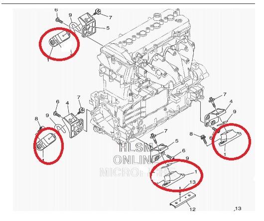 Kit Coxim Motor Jet Ski Yamaha 800 / 1100 / 1300 / 1800