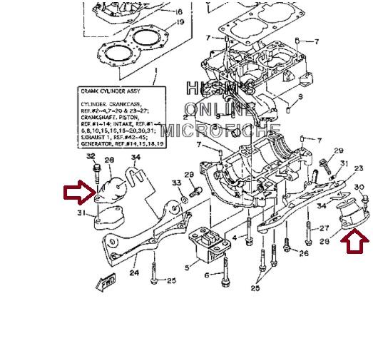 Kit Coxim Motor Jet Yamaha 650 / 700 / 800 / 1200