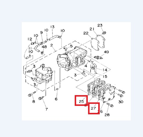 Kit Junta Escape Yamaha 4 / 5 / 6 HP