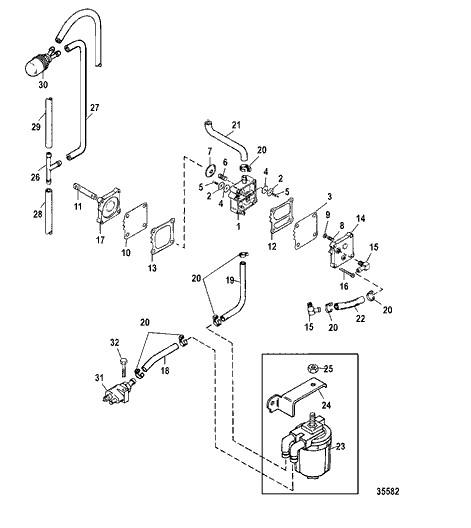 Kit Reparo Bomba Gasolina Mercury 30 a 225 HP
